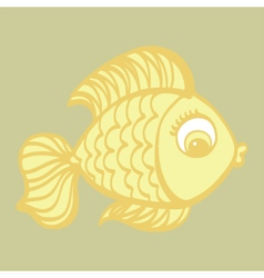 Cute cartoon hand drawn fish vector