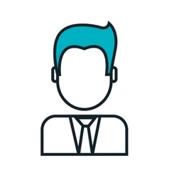 businessman avatar isolated icon vector image