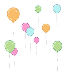 Soft coloured balloons vector image