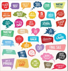 Modern sale sticker and tag colorful collection vector