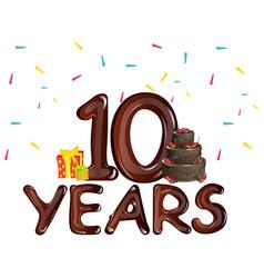 10 years anniversary celebration birthday vector
