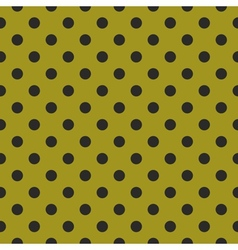 Tile pattern with black polka dots on green vector