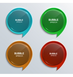 Modern glass bubble speech icons set vector