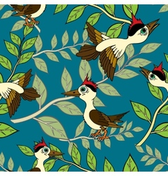 Birds and branches vector image