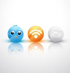 web icons design vector image