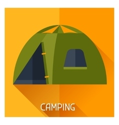 Tourist creative of camping tent in vector