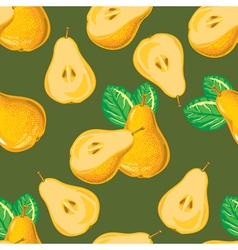 Seamless pattern of yellow pear vector