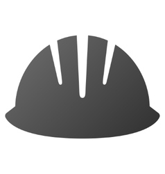 Builder helmet gradient icon vector