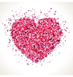Red pink heart shape dots vector