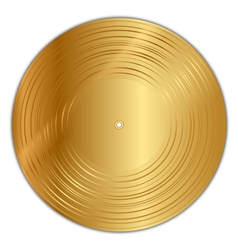 Golden vinyl record vector