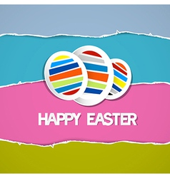 Abstract Easter Eggs on Retro Torn Paper vector image