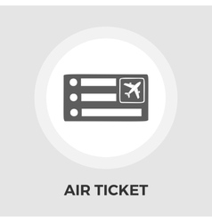 Air Ticket Icon vector image vector image