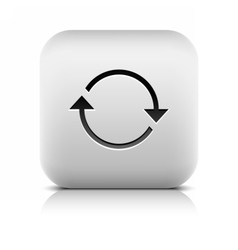 Arrow icon refresh reload rotation reset sign vector