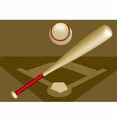 baseball background vector image