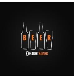 beer glass bottle ornate background vector image