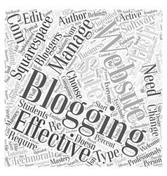 Blogging websites word cloud concept vector