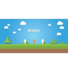 Broker with sign connection between vector