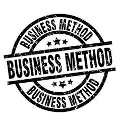 Business method round grunge black stamp vector