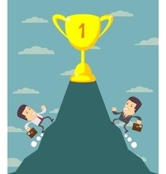 Businessman is runing to get the prize vector image vector image