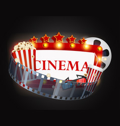 cinema movie background vector image vector image