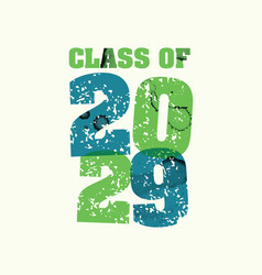 Class of 2029 concept stamped word art vector