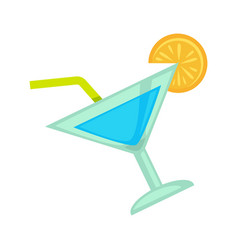 Cocktail drink for night club or disco party vector