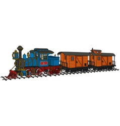 Funny american steam train vector image