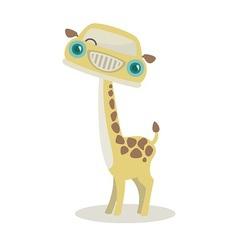 Giraffe-mobile vector image