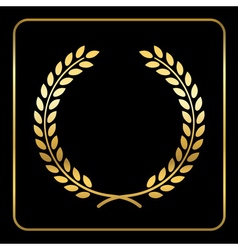 Gold laurel wreath design vector image vector image