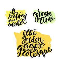 hand lettering collection modern hand vector image