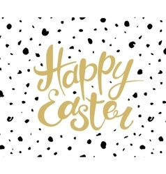 Happy Easter lettering Typographical Background vector image vector image