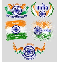 India badges vector image vector image