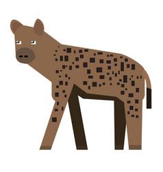 Isolated abstract hyena vector