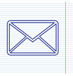 Letter sign navy line icon vector