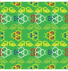 lizards pattern vector image vector image