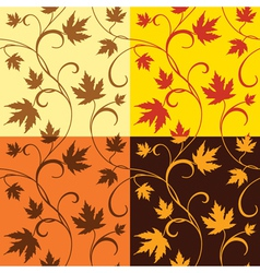 Maple leaves patterns vector