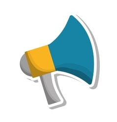 megaphone communication isolated icon vector image