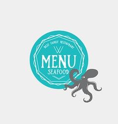 Menu logo template vintage badge food design vector image vector image