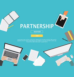 partnership graphic for business concept vector image