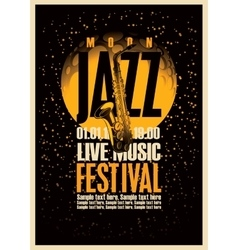 Poster or jazz festivals vector image