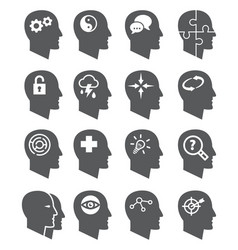 Psychology icons set vector