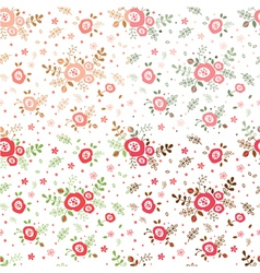 Rose seamless patterns vector image vector image