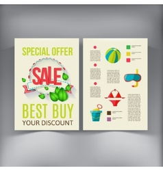 Sale Brochure Flyer design template vector image