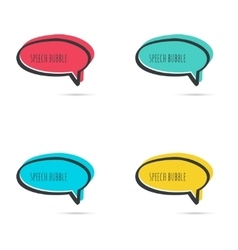 Set hand drawn speech bubble vector