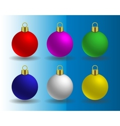 set of Christmas balls vector image