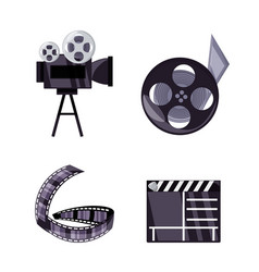 Set short film production tools vector