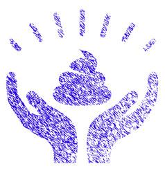 Shit win hands icon grunge watermark vector