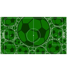 Soccer field vector image vector image