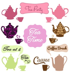 Tea time coffee break vector