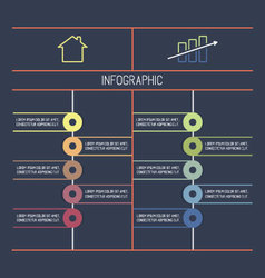 Template Infographic for Data Visualization vector image